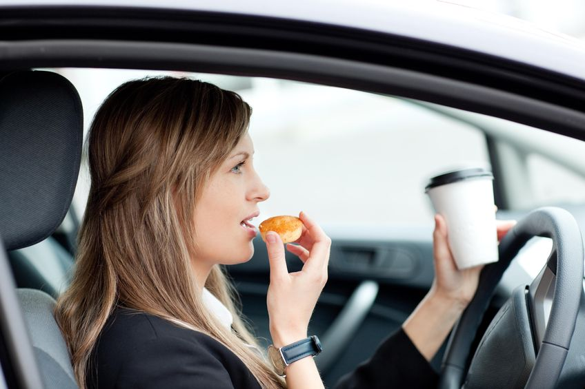 Types of Distracted Driving: Eating